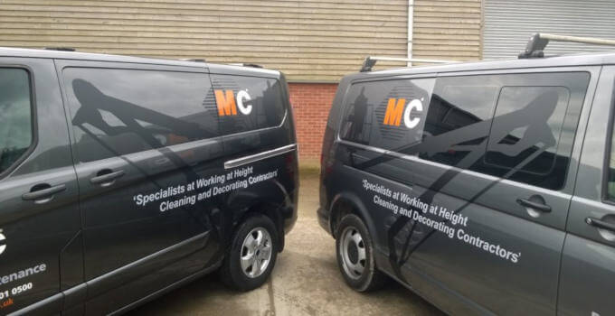 MC Property Maintenance Vans close up