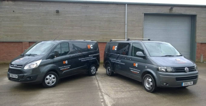 MC Property Maintenance Vans