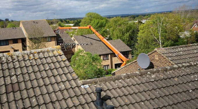 Palfinger P480 in Woking Surrey - Blog Image