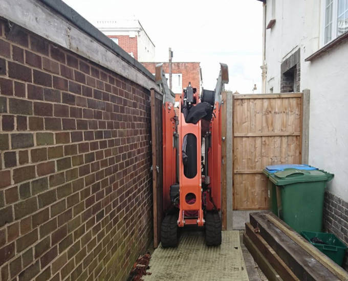 Restricted Access for our Cherry Picker in Bognor Regis