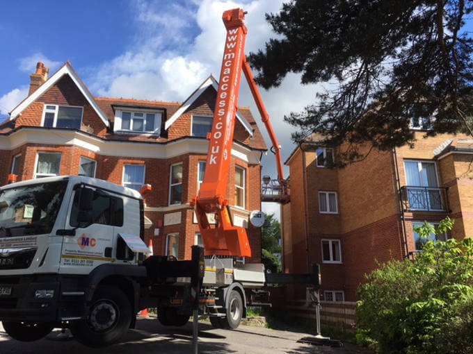 Cherry picker hire from MC Property Maintenance