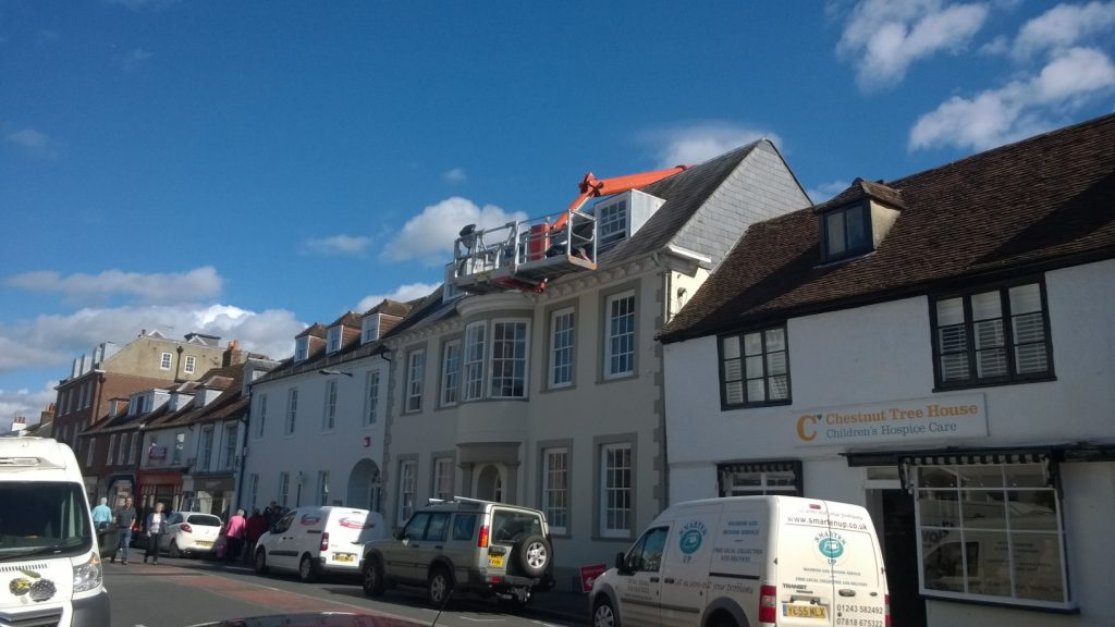 Palfinger P480 Gutter Cleaning in Chichester
