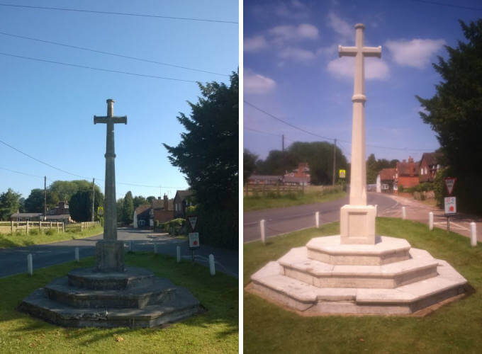Memorial Doff Cleaning in Preston Candover - Before and After image